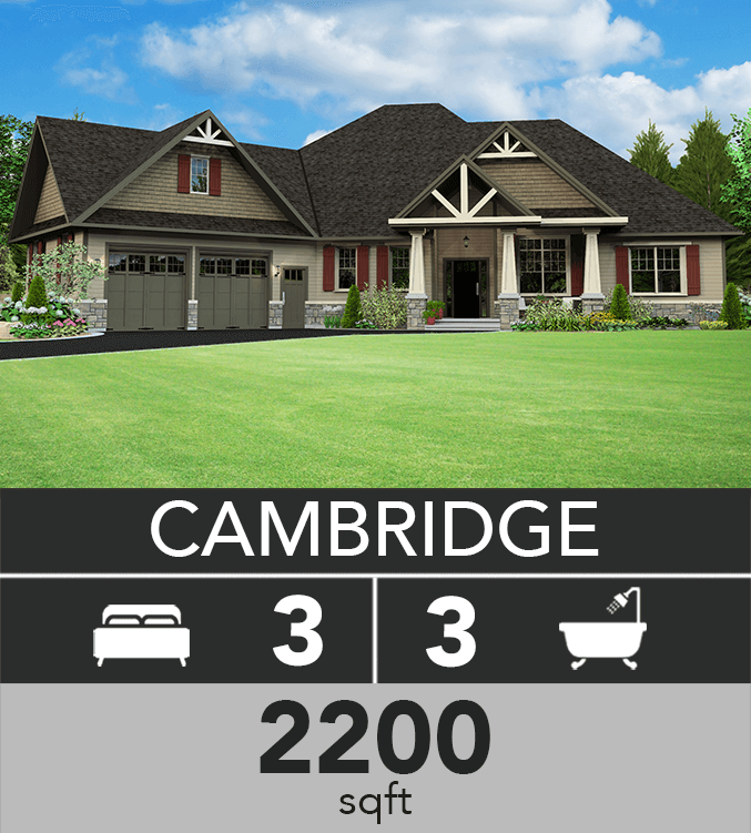 Cambridge model 2200 sqft
