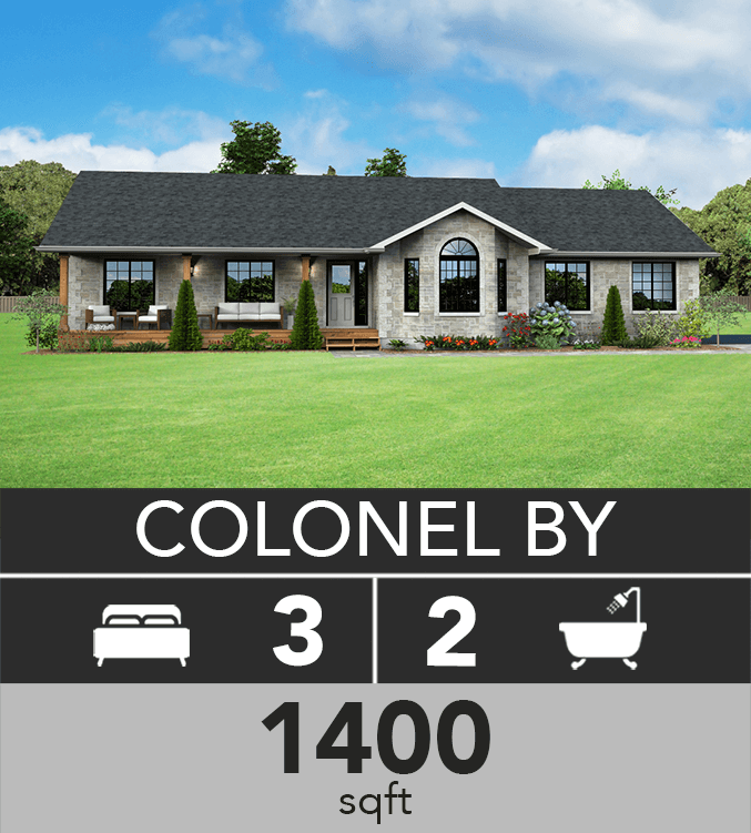 Colonel By model 1400 sqft