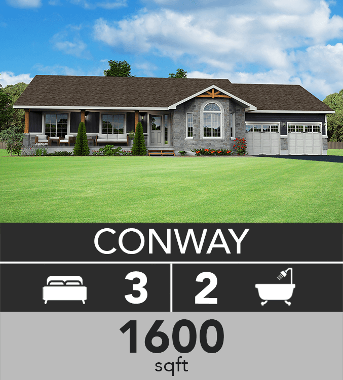 Conway model 1600 sqft