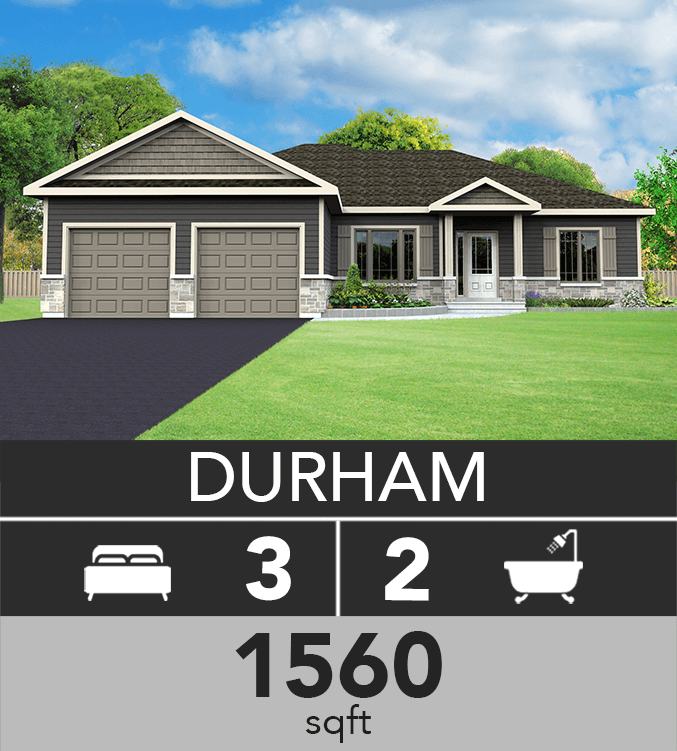 Durham model 1560 sqft