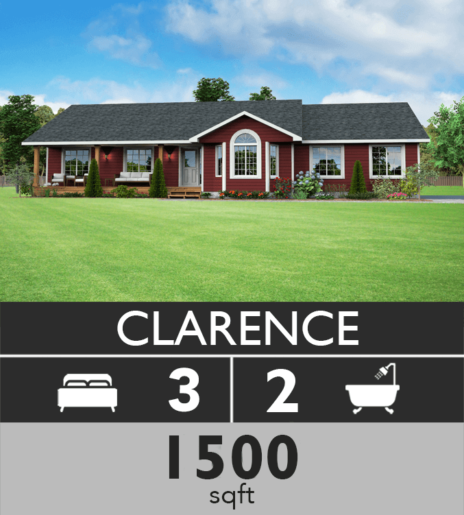 clarence model 1500 sqft